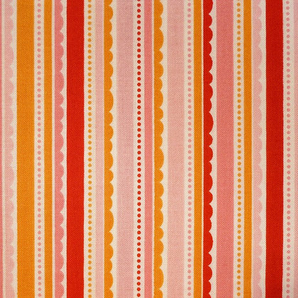 Fabric :: Happy Day :: Pink Scallop Stripes