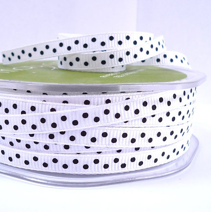 "1/4"" Polka Dot Ribbon :: Black"