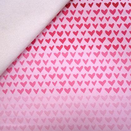Fabric Felt :: Hello Sweetheart :: Pink / Pink Rainbow Heart on Natural
