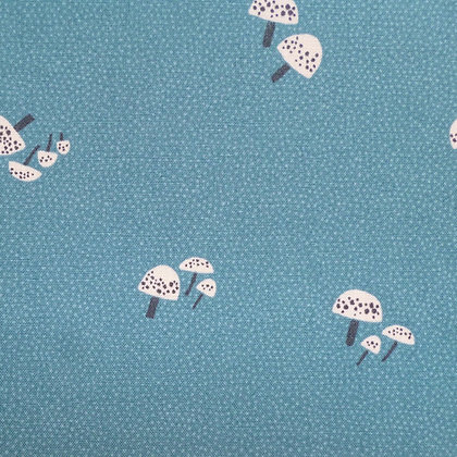 Fabric :: Dreaming of Snow :: Toadstools Teal