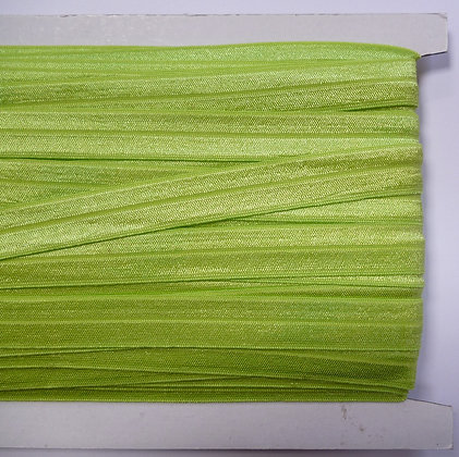 Satin Sheen Fold Over Elastic :: Lime