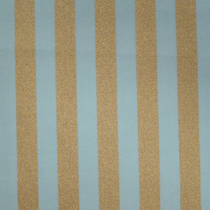 Fabric :: Wide Gold Stripes :: Mint