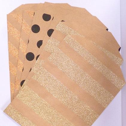 Paper Bags :: Glitter & Black