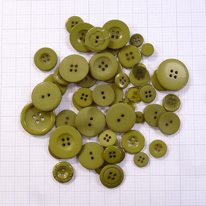 Dyed Buttons By Weight :: Moss