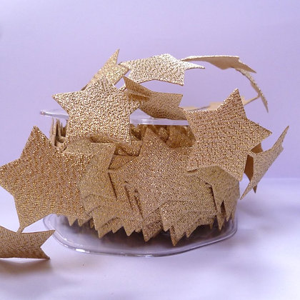 Self Adhesive Cut Out Ribbon :: Large Gold Stars (per half metre)