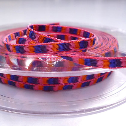 SALE :: Satin Stitch Rainbow Ribbon :: Bright