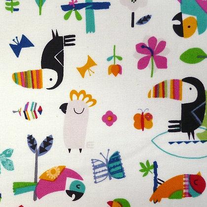 SALE Fabric :: Club Tropicana :: Bird Garden