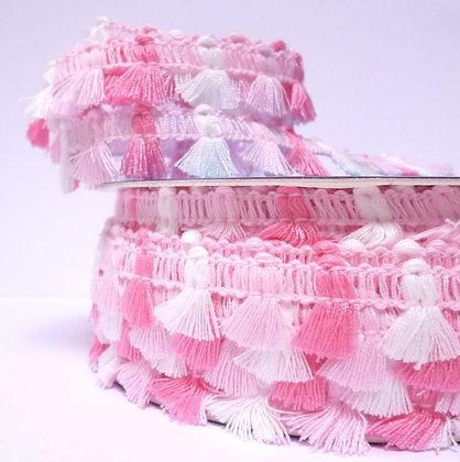 Tiny Tassels Trim :: Pink & Pink
