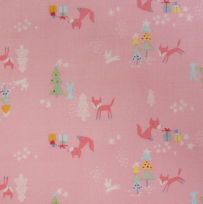 Fabric :: A Winter Tale :: Foxes Pink