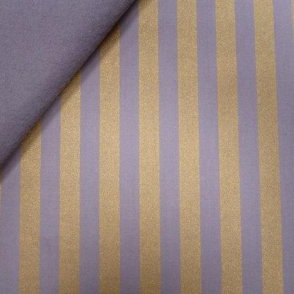 Fabric Felt :: Wide Gold Stripes :: Grey on Grey