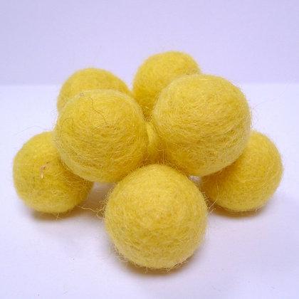 Loose Felt Balls 100% Wool :: Yellow