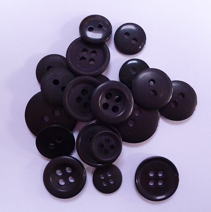Dyed Pick & Mix Buttons :: Black