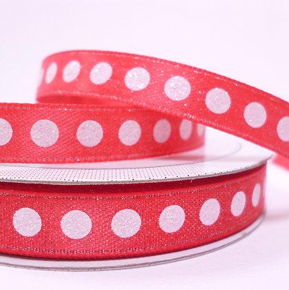 Sparkle Ribbon :: Red & White Dot