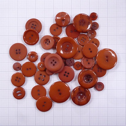 Dyed Buttons By Weight :: Russet
