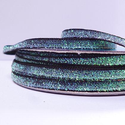 5mm Glitter Velvet Ribbon :: Dark Green