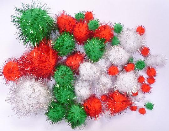 Box of Pom Poms :: Christmas Glitter