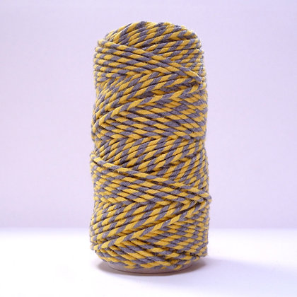 Baker's Twine MultiColoured 20m :: Yellow & Grey