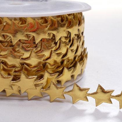 Cut Out Ribbon :: Shiny Stars Gold