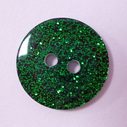 Colour Glitter Buttons :: LARGE :: Green