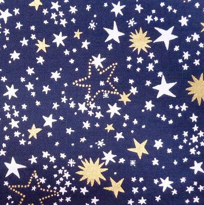 Fabric :: Starbrite Nightlight :: Navy & Stars