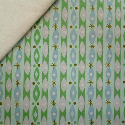 Fabric Felt :: Way Up North :: Stripe & Oval Mint on Natural