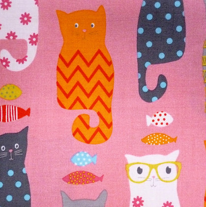 Fabric :: Novelty Cats :: Pink