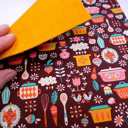 Fabric Felt :: V.K. Main Brown & Mustard