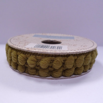 SALE :: teeny tiny pom pom trim spool :: moss