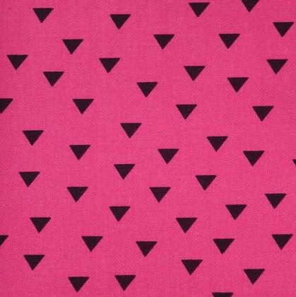 Fabric :: Little Super Hero :: Fuchsia & Black Triangles