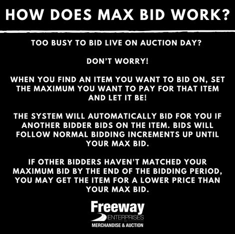 How does max bid work?