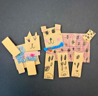 1st Grade Cardboard Character Sculpture