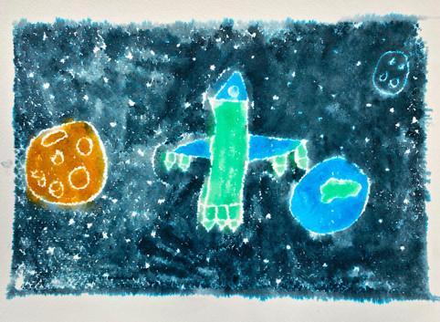 3rd Grade Monoprint