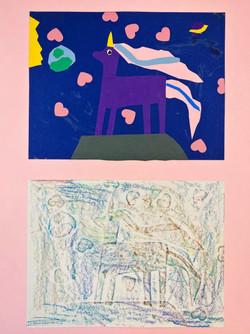 4th Grade Collage Rubbings