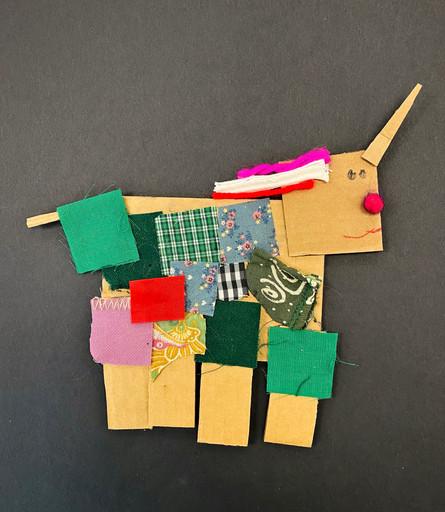 Kindergarten Cardboard Character Sculpture