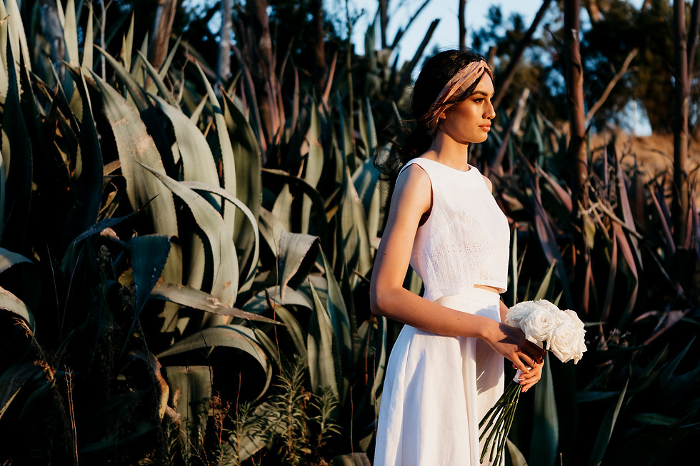 White wedding separates. Photo by Amelia Kate.