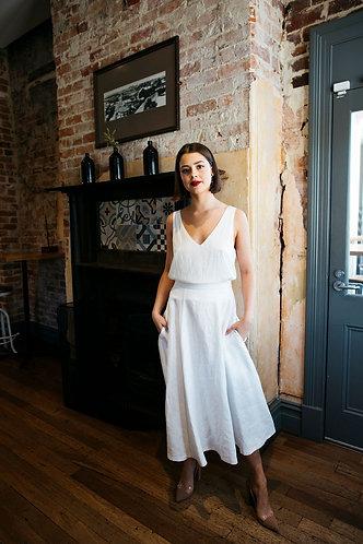 Ally linen skirt