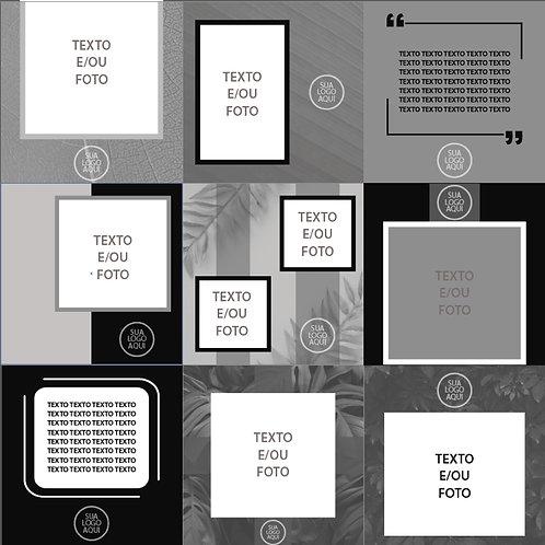 Backgrounds Garden 01- Versão Preto e Branco