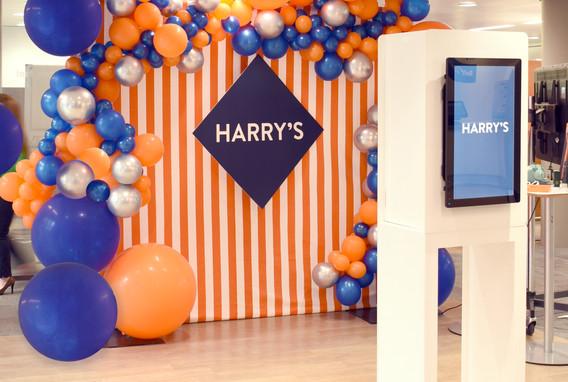 Harrys Razors Balloon Backdrop
