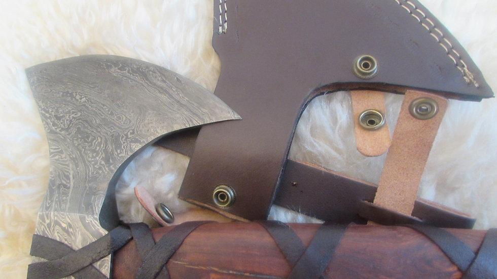 Bearded Axe, heavy Damascus steel (ND20)