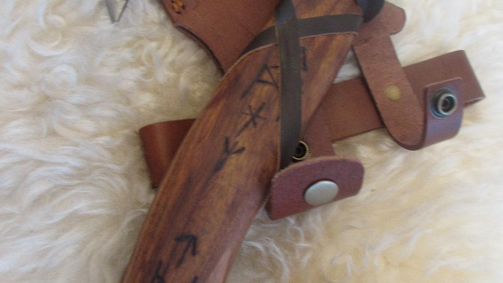 Rune handle Damascus steel axe (DM6)