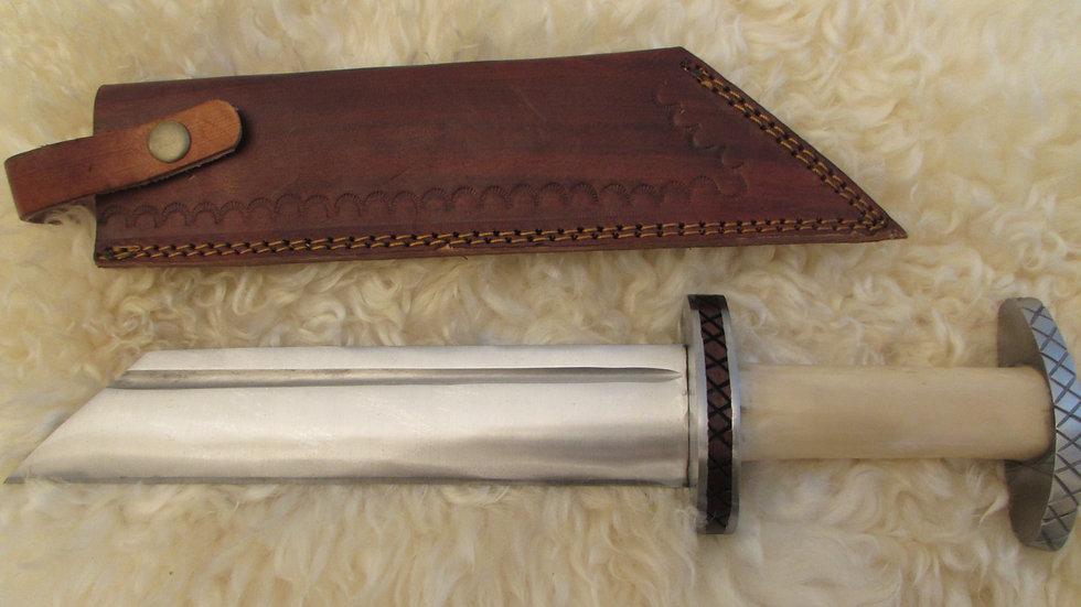 Cream bone handle Viking seax