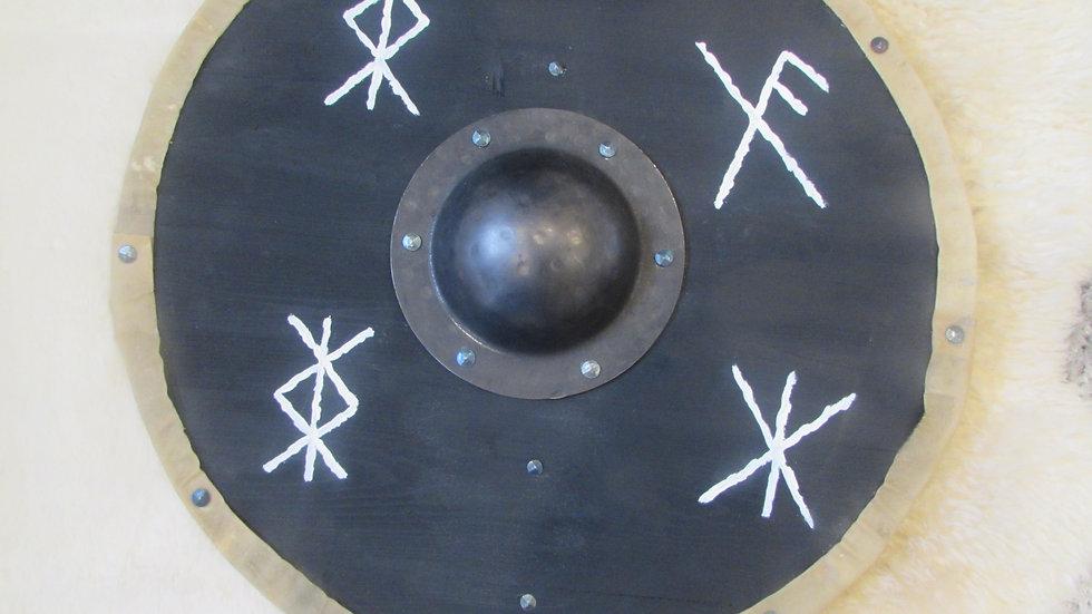 Viking shield with bind runes