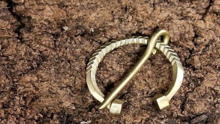 Birka Brass Ring Brooch