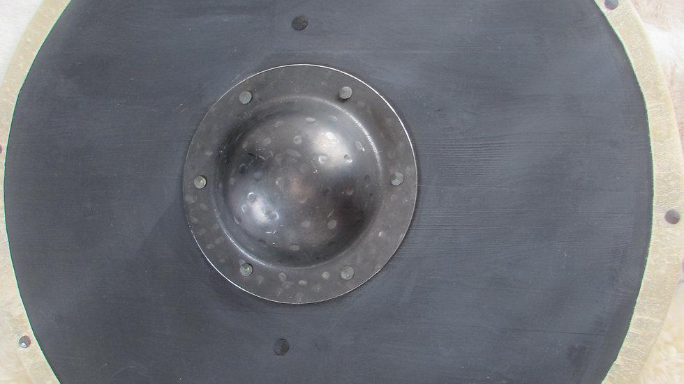 Plain black Viking planked shield