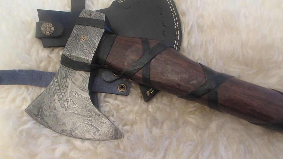 Bearded Axe, heavy Damascus steel (ND3)