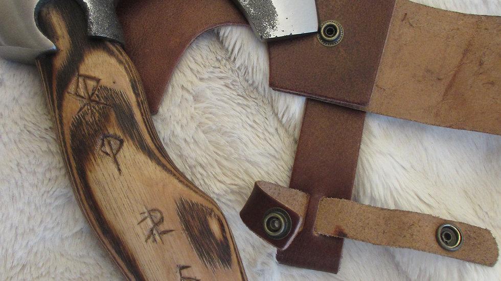 Brut de forge Viking axe (bund rune handle ) VK3