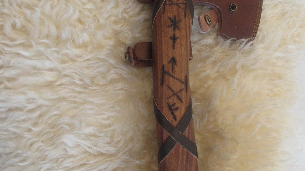 Rune handle Damascus steel axe (DM8)