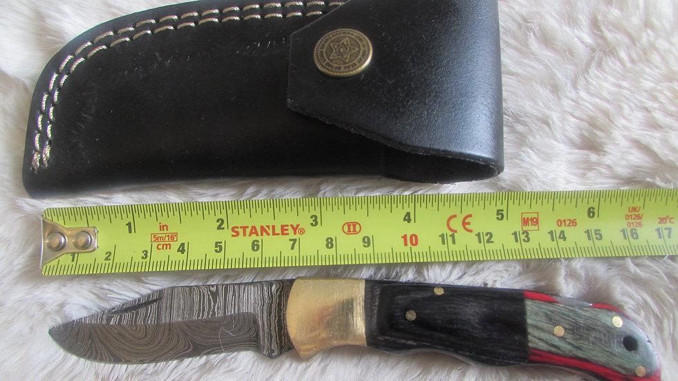 Damascus steel pocket knife (PK17)