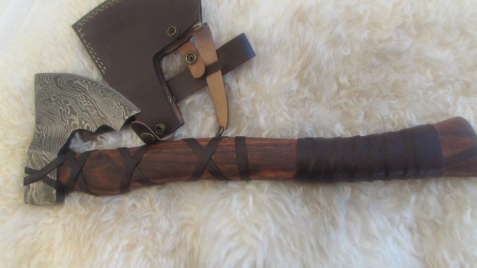 Bearded Axe, heavy Damascus steel (ND17)
