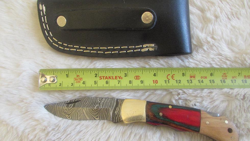 Damascus steel pocket knife (PK16)